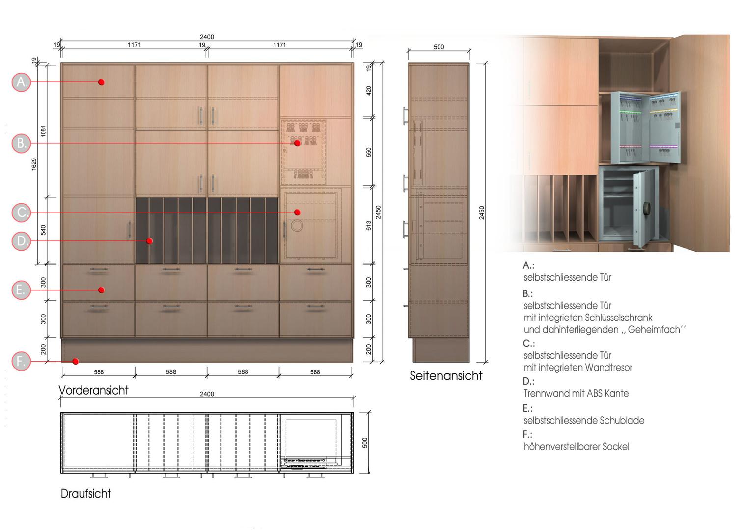 SK-Kreis fertigt individuelle Umfeldmöblierung von Leitstellen
